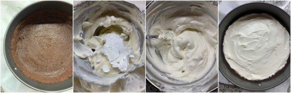 preparazione crostata mascarpone e cioccolato senza cottura