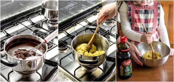 preparazione profiteroles con pasta choux all'olio d'oliva