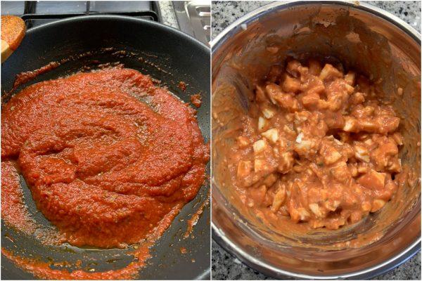 preparazione sofficini al pomodoro