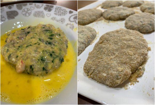 preparazione spinacine, cotolette di pollo con spinaci