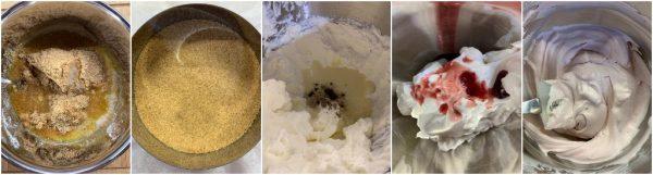 preparazione torta cornetto all'amarena
