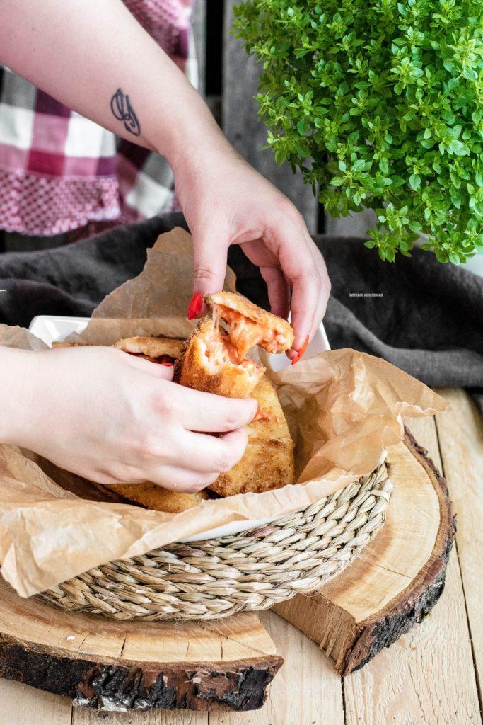 sofficini al pomodoro e mozzarella fatti in casa