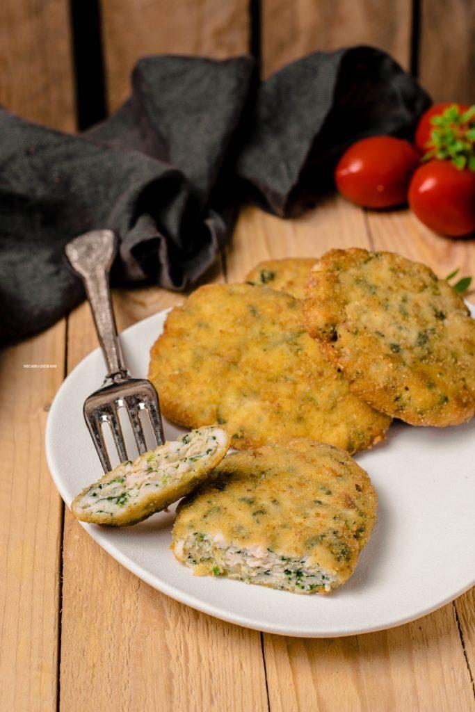 spinacine, cotolette di pollo con spinaci