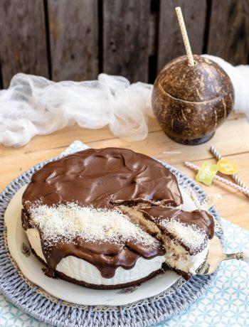 torta gelato al cocco e cioccolato senza gelatiera