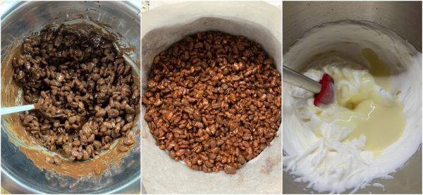 preparazione torta gelato al caffè veloce senza gelatiera