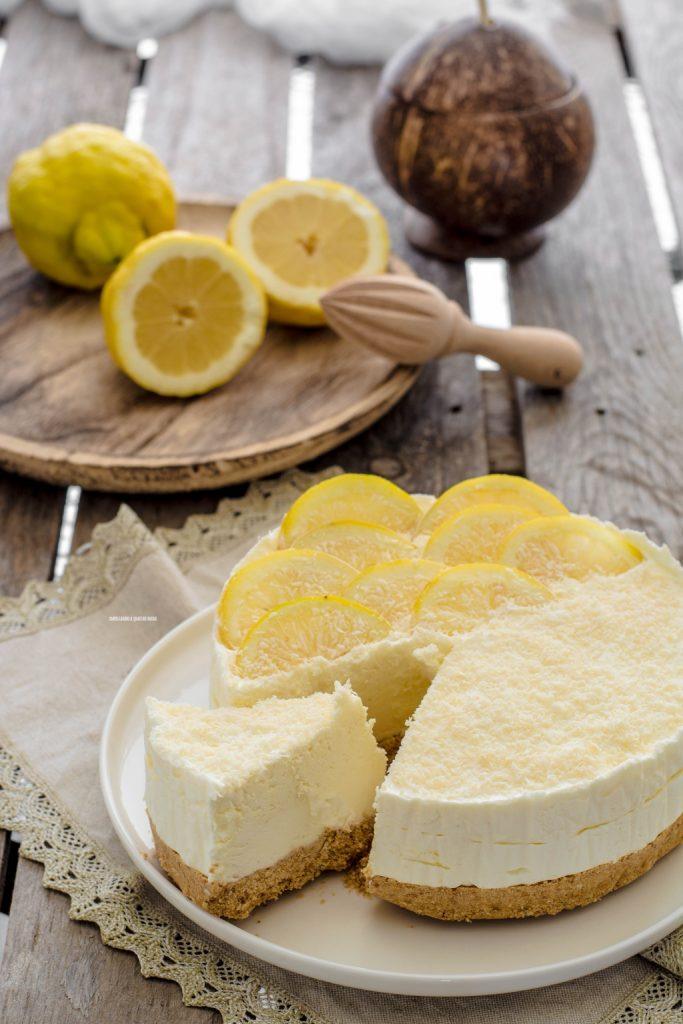 torta gelato al cocco e limone senza gelatiera
