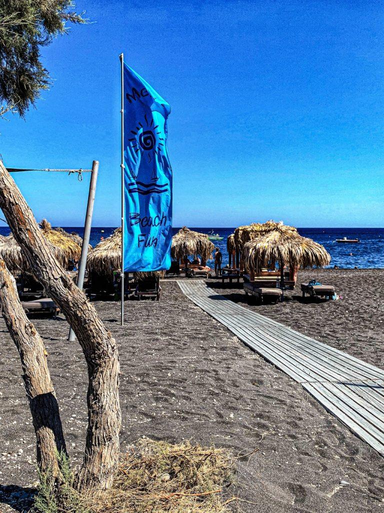 perissa santorini black beach