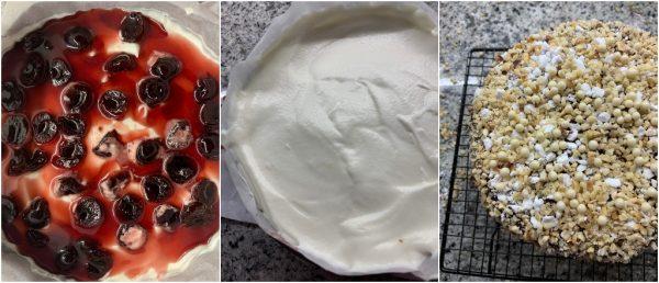 preparazione torta gelato croccante, senza gelatiera