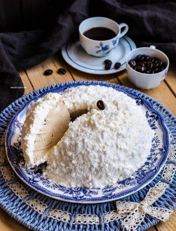tartufo gelato panna e caffè
