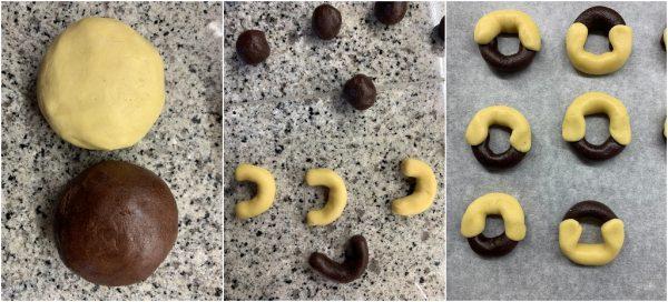 preparazione biscotti abbracci fatti in casa