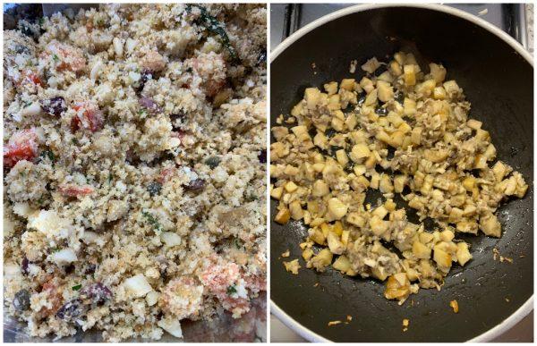 preparazione funghi champignon ripieni