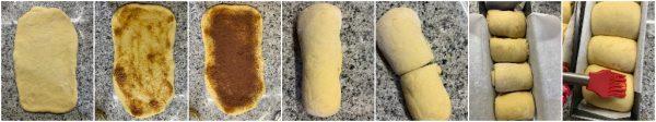 preparazione pan brioche a lievitazione naturale con confettura di fichi e cacao