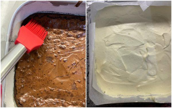 preparazione tiramisù brownies