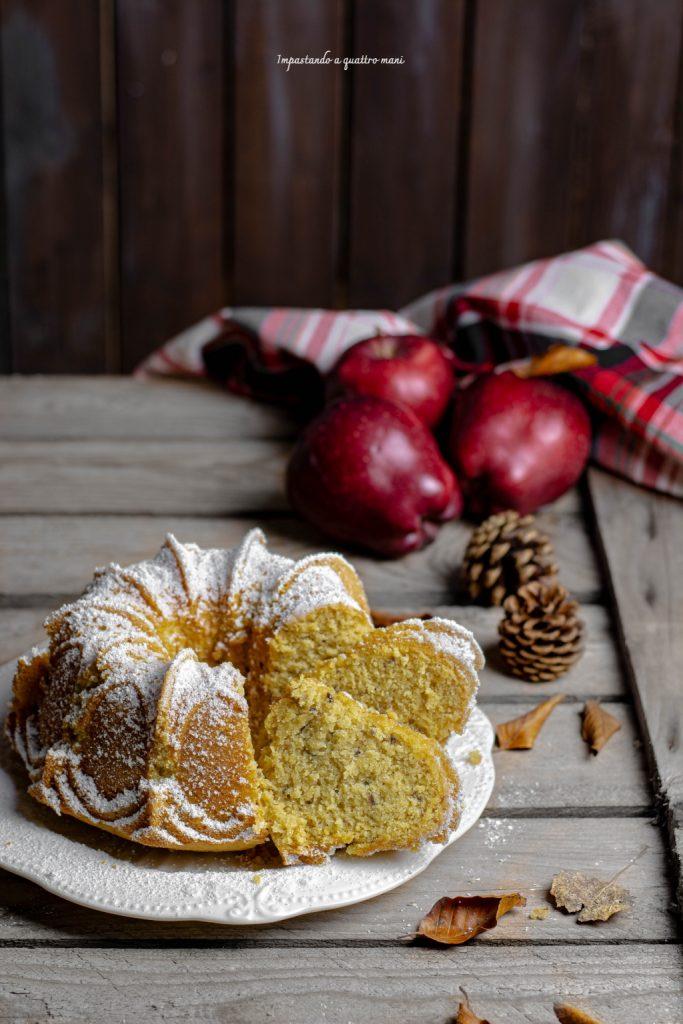 pan di mela, la torta di mele frullate