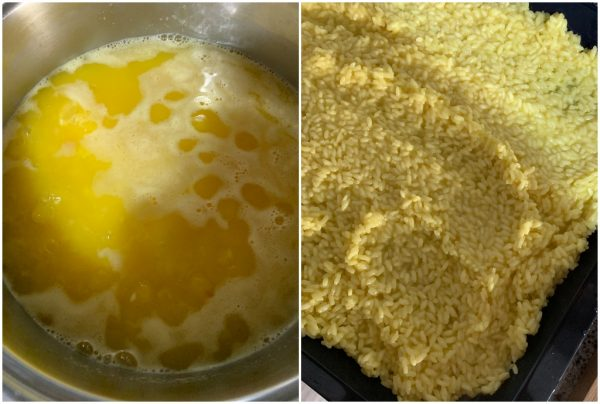 preparazione arancini bianchi