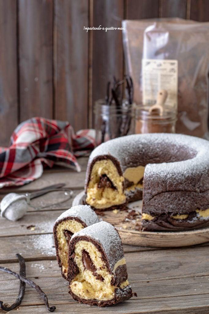 ciambella pan brioche vaniglia e cacao