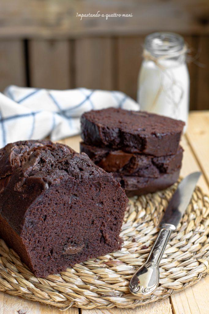 plumcake al cacao e nutella con solo albumi