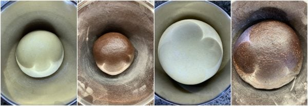 preparazione ciambella pan brioche vaniglia e cacao