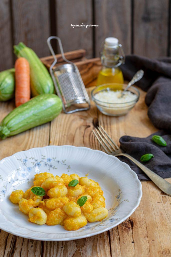 gnocchi alle verdure, ricetta light