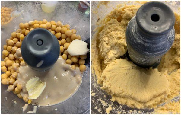 preparazione hummus