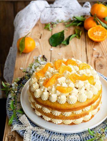 naked pan di mandarino con crema al mandarino e vaniglia
