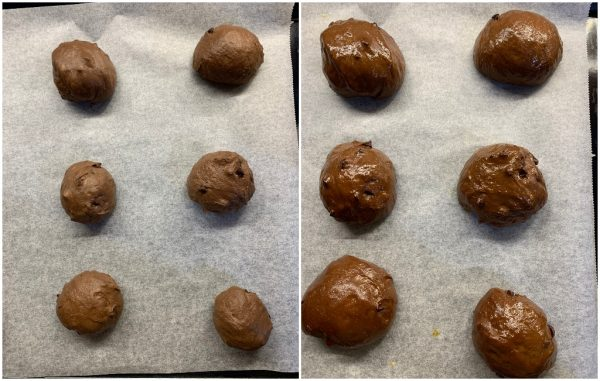 preparazione pangoccioli al cacao