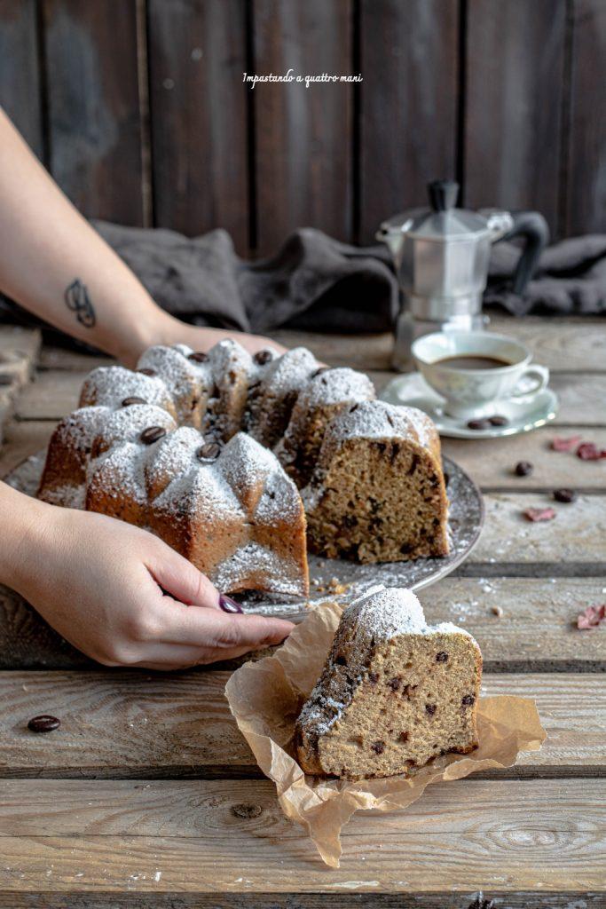 torta alla ricotta e caffè