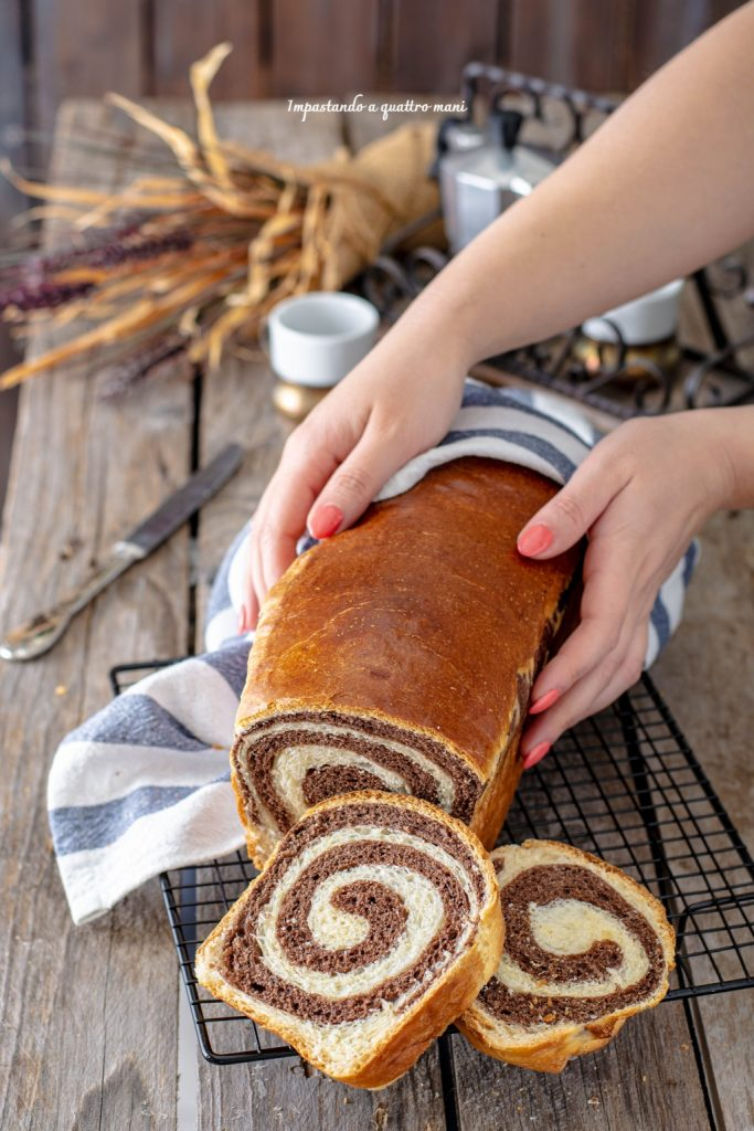 pan brioche bicolore vaniglia e cacao