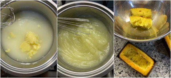 preparazione mini plumcake mimosa con crema al limone all'acqua idea per la festa della donna