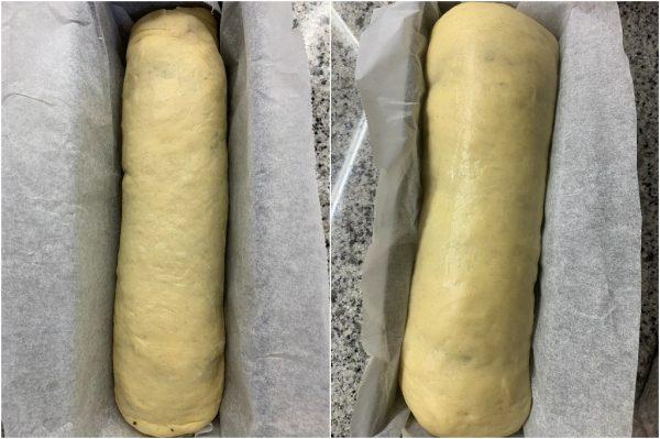 preparazione pan brioche bicolore vaniglia e cacao