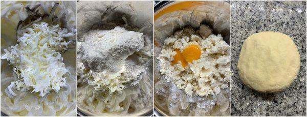 preparazione biscotti al formaggio russi