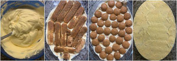 preparazione tiramisù al caffè e amaretto con uova pastorizzate