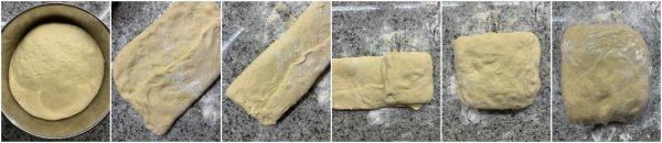 preparazione trecce di brioche con crema pasticcera
