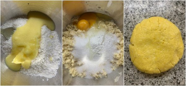 preparazione biscotti al cocco ripieni di cioccolato bianco e formaggio