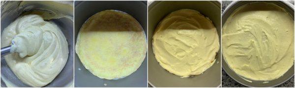 preparazione torta di crepes con crema diplomatica e cioccolato