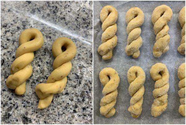 preparazione biscotti al miele e muscovado