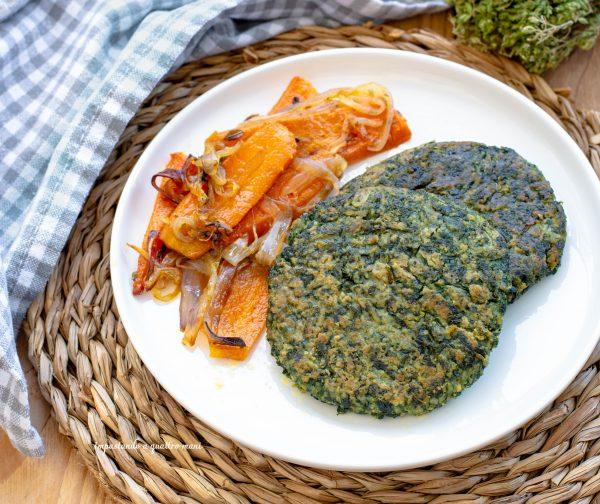 burger vegetariani di spinaci e patate