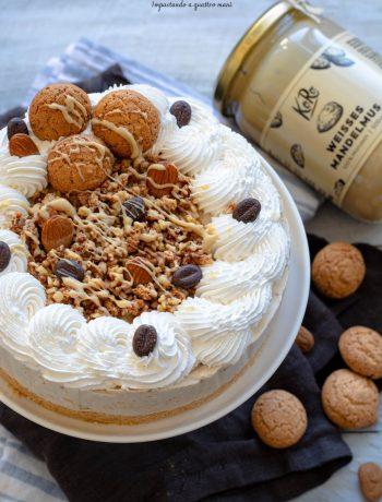 torta gelato mandorle e amaretti