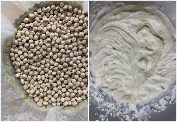 preparazione crostata al pistacchio con crema al latte