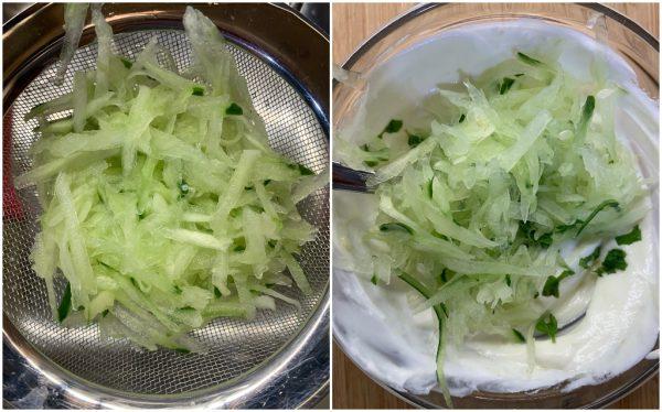 preparazione salsa greca tzatziki