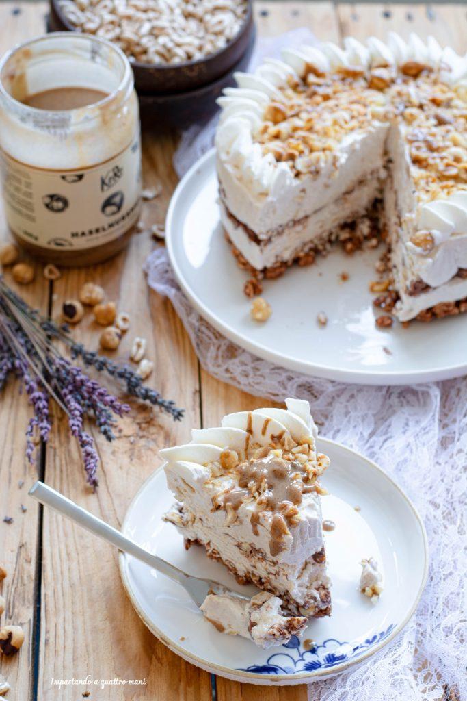 torta gelato alla nocciola senza gelatiera