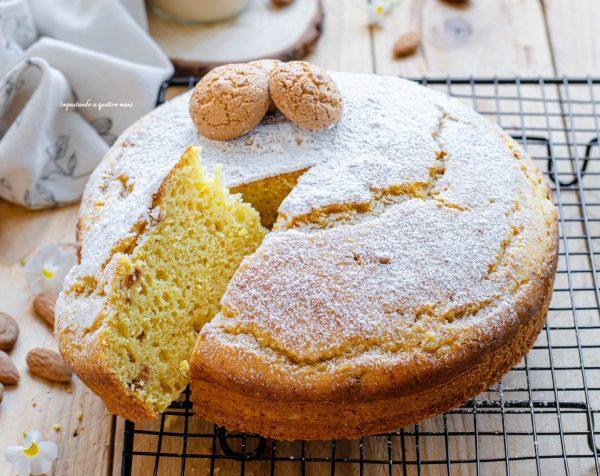 torta ricotta, mandorle e amaretti