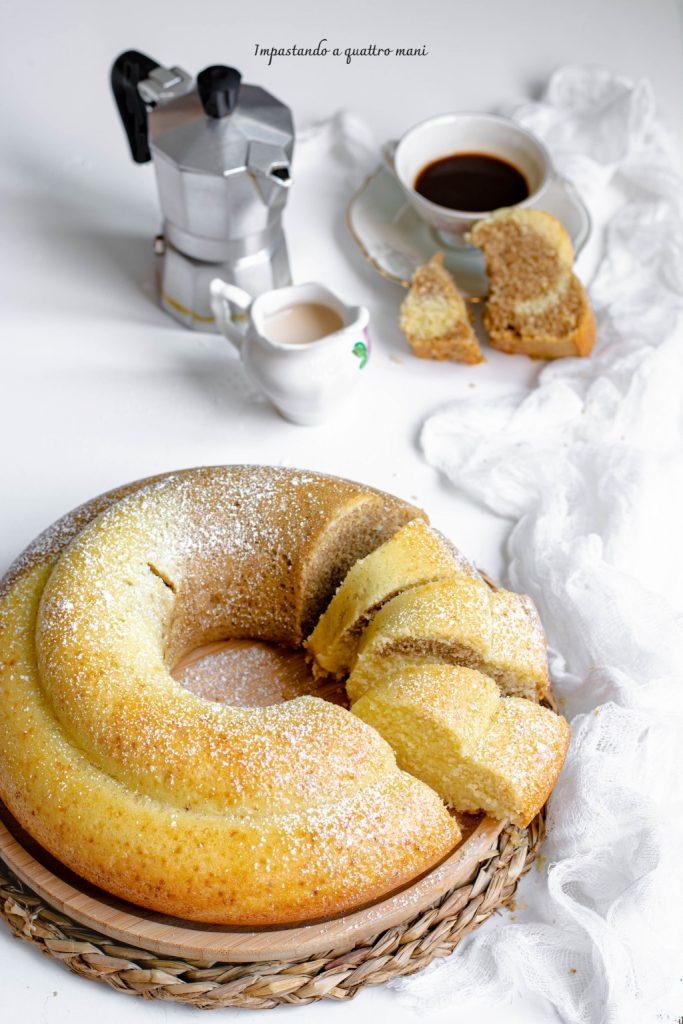 ciambella bicolore panna e caffè