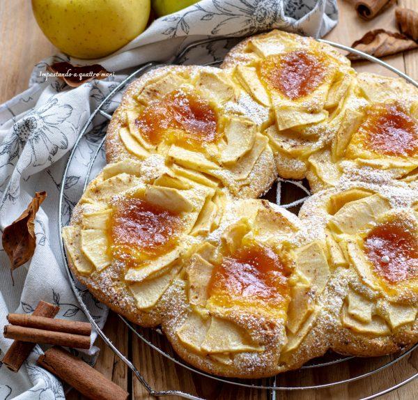 crostata al cucchiaio con confettura e mele