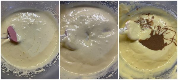 preparazione torta allo yogurt con nocciole