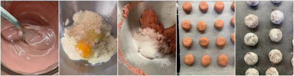 preparazione-ruby-chocolate-crinkle