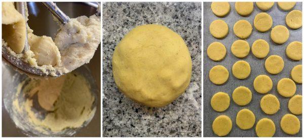 preparazione biscotti alle nocciole e cioccolato