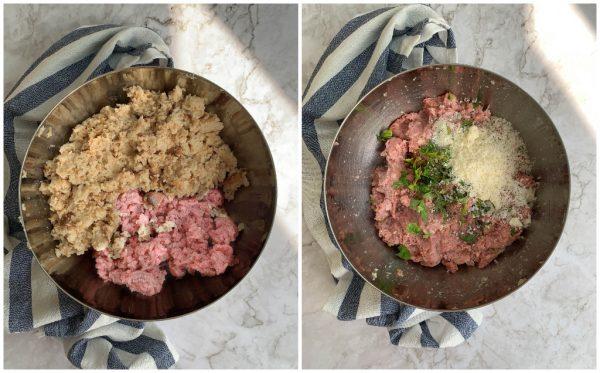 preparazione burger di vitello