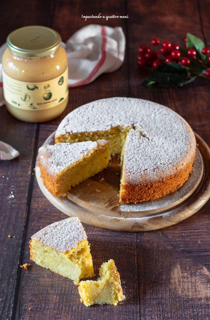 torta soffice alla purea di mele e arancia