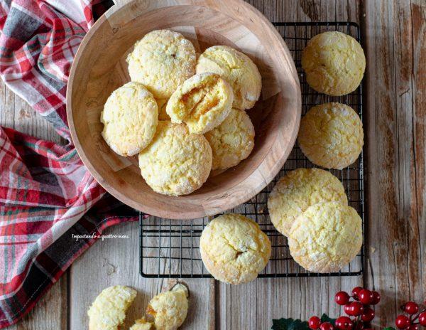 biscotti all'arancia e confettura di fichi
